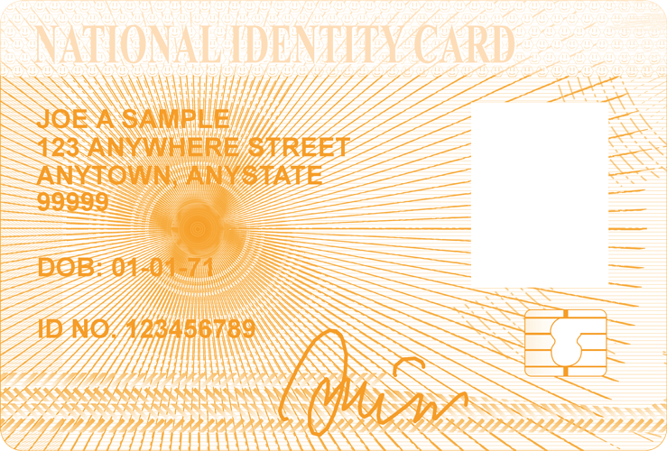National Identity Card Dummy